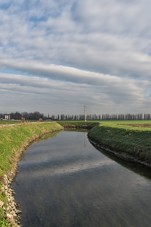 Canale Naviglio - Albareto, Modena, Italy - December 30, 2014