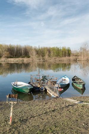 Po River - Gualtieri, Reggio Emilia, Italy - March 29, 2015