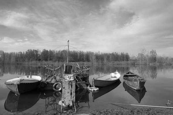 Po River - Gualtieri, Reggio Emilia, Italy - March 29, 2015