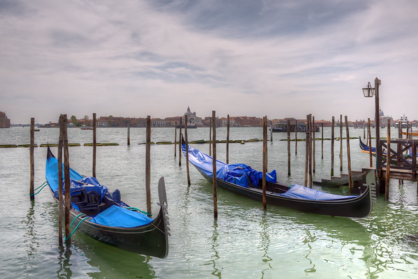 Gondolas - Venice, Italy - April 18, 2014