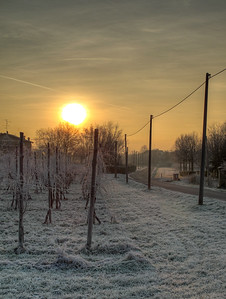 Cold Sunrise - Albareto, Modena, Italy - December 28, 2010