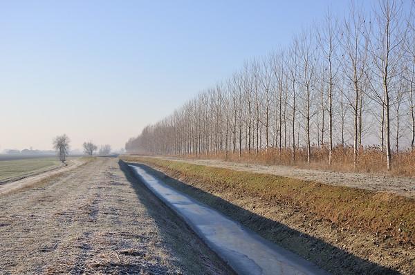 Canal - Sant'Agata Bolognese, Bologna, Italy - December 22, 2011