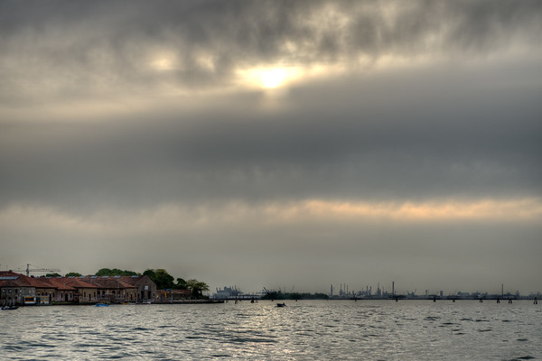 Almost Sunset on the Lagoon - Near Venice, Italy - April 18, 2014