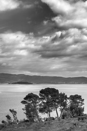 Lake Trasimeno - Castiglione del Lago, Perugia, Italy - April 15, 2017