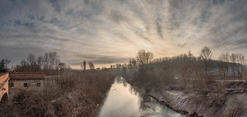 Panaro River - San Cesario Sul Panaro, Modena, Italy - January 13, 2020