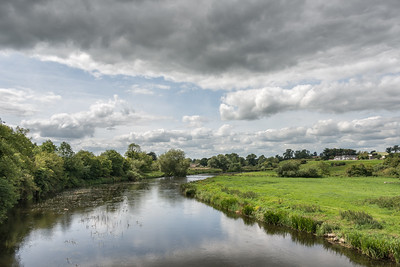 River Boyne (Abhainn na Bóinne) - Glebe, County Meath, Ireland - August 8, 2017