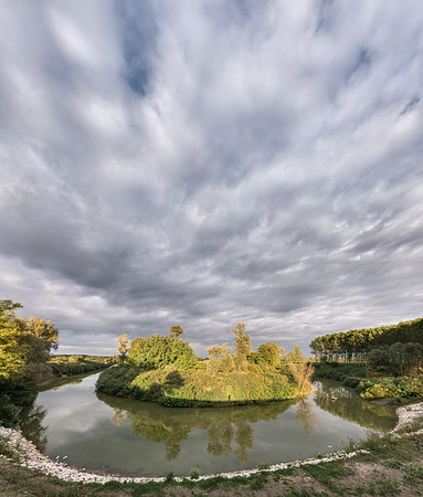 Secchia River Bend - San Benedetto Po, Mantua, Italy - October 4, 2019