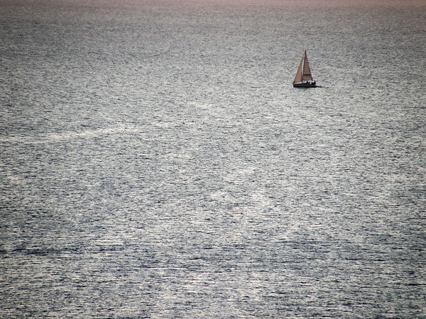 Sailing at Sunset - La Maddalena Island, Olbia-Tempio, Italy - August 15, 2009