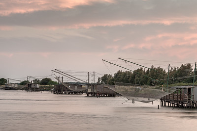 Fishing Shacks - Comacchio, Ferrara, Italy - June 10, 2017