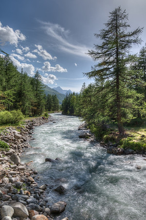 Torrente Dora - Val Ferret - Courmayeur, Aosta, Italy - August 8, 2016