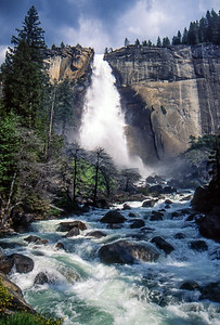 Waterfalls - Yosemite National Park, California, USA - August 1995