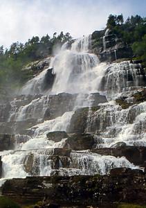 Tvindefossen Waterfalls - North of Voss, Norway - June 16, 1989