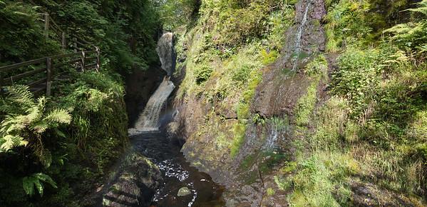 Waterfall - Glenariff Forest, Ballymena , Northern Ireland, UK - August 15, 2017
