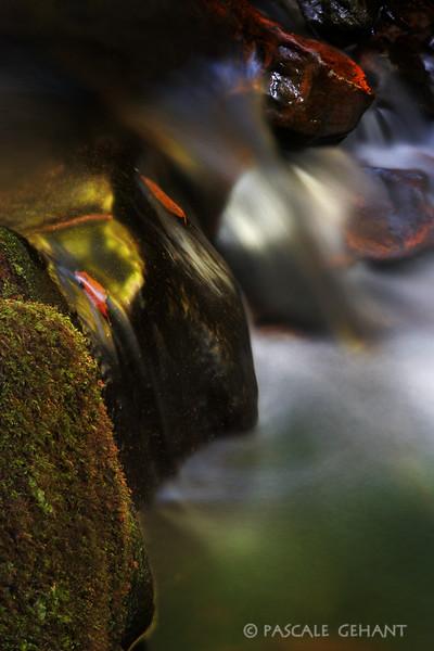 Small waterfall in autumn 2