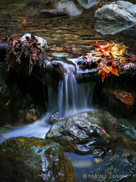Small waterfall in autumn