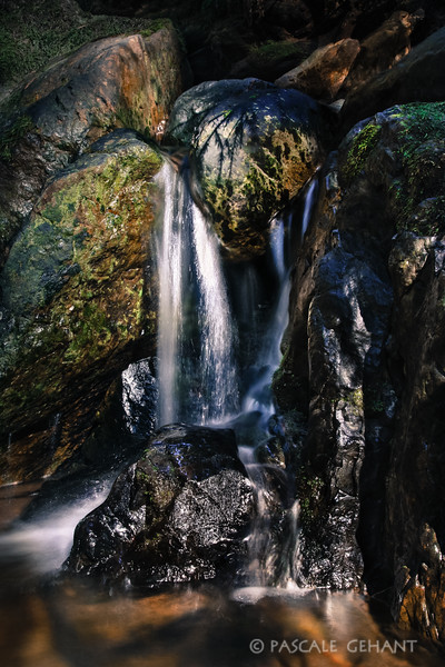 Glistening waterfall