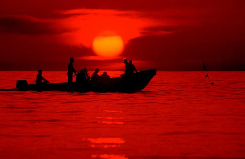 Japanese Fishermen Sunset
