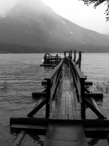 Boat dock on Saint Mary Lake