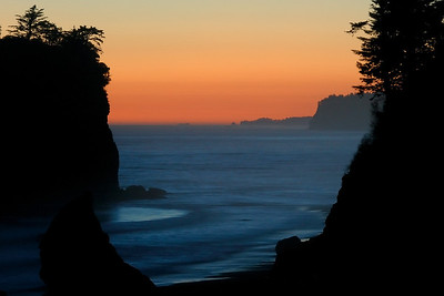 Sunset on Ruby Beach Olympic National Park