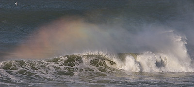 rainbows in the surf