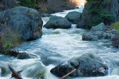 Rushing River Water 002 | Wall Art Resource