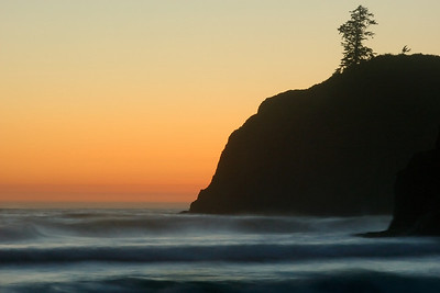 Sunset on Ruby Beach Olympic National Park