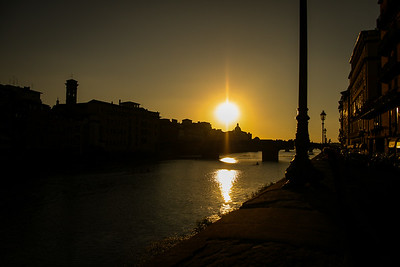 Sunset over River Arno ~ Florence, Italy