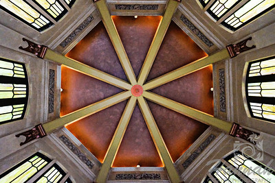 Ceiling of the Vista House at the Crown Point State Scenic Corridor  Columbia River Gorge Scenic Area, Oregon, U.S.A.  © Copyright Hannah Pastrana Prieto