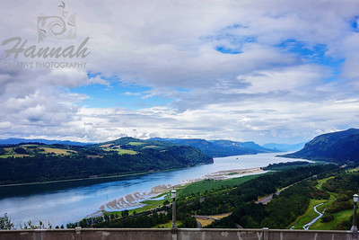 View of Columbia River Gorge from the Crown Point State Scenic Corridor  Columbia River Gorge Scenic Area, Oregon, U.S.A.  © Copyright Hannah Pastrana Prieto