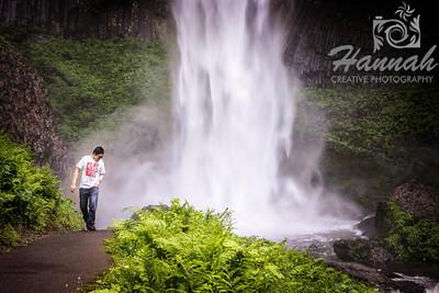 Latourell Falls Columbia River Gorge Scenic Area, Oregon, U.S.A.  © Copyright Hannah Pastrana Prieto
