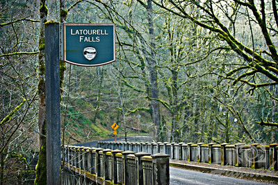 Latourell Falls Signage and Bridge Columbia River Gorge Scenic Area, Oregon, U.S.A.  © Copyright Hannah Pastrana Prieto