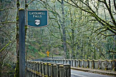 Latourell Falls Signage and Bridge Columbia River Gorge Scenic Area, Oregon, U.S.A.  © Copyright Hannah Pastrana Prieto