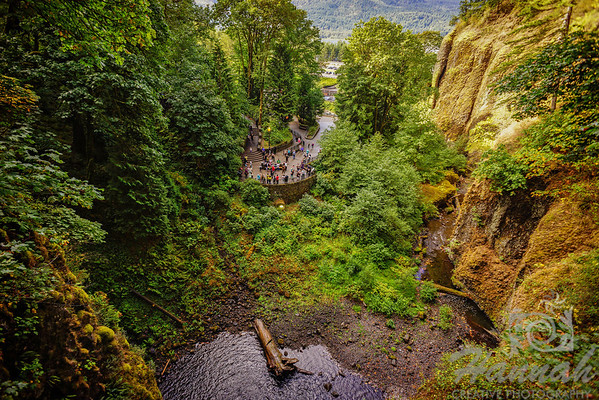 Multnomah Falls Columbia River Gorge Scenic Area, Oregon, U.S.A. View from Benson Bridge  © Copyright Hannah Pastrana Prieto