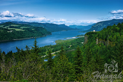 View of Columbia River Gorge from the Portland Women's Forum State Scenic Viewpoint  © Copyright Hannah Pastrana Prieto