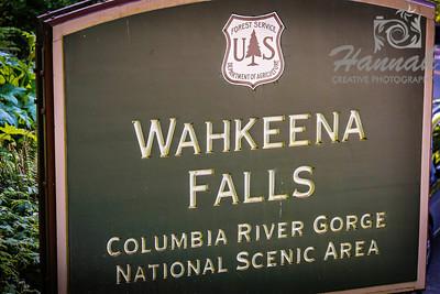 Signage at the Wahkeena Falls Columbia River Gorge Scenic Area, Oregon, U.S.A.  © Copyright Hannah Pastrana Prieto
