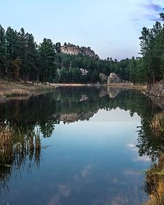 Dusk at Center Lake - The Black Hills, SD