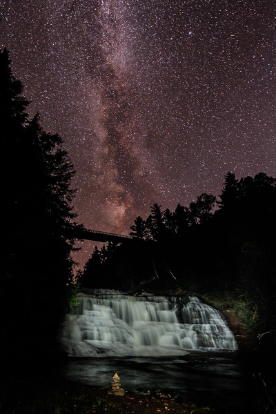 Milky Way over Agate Falls 01