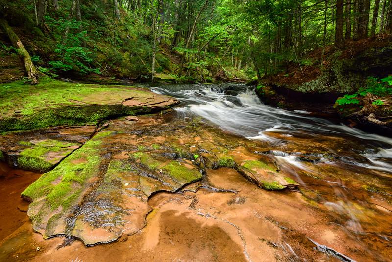 West Branch Sturgeon River Falls #2 01