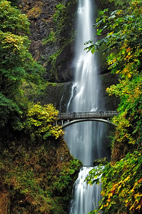 Multnomah Falls in the Fall