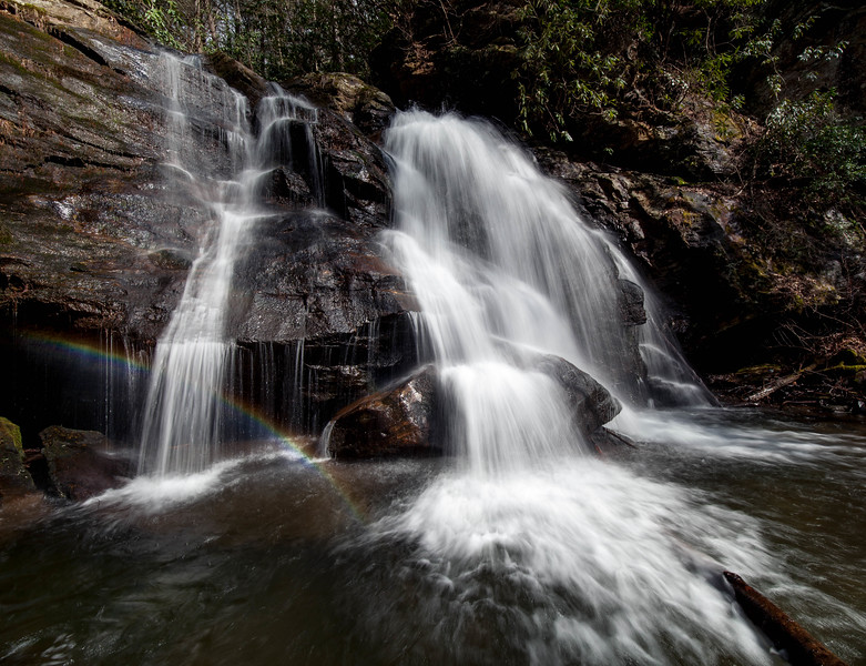 Rainbow at Maidenhair Falls