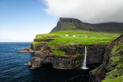 Waterfalls at Gasadalur, Faroe Islands