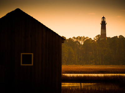 Fishing Shack and Lighthouse