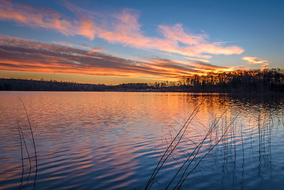 Sunset at Salem Lake, Winston-Salem, NC.