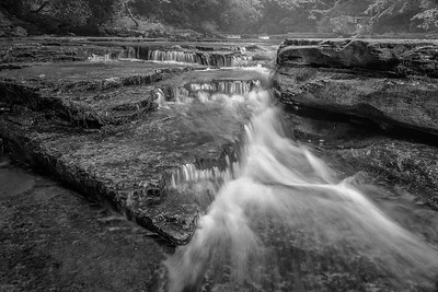 B&W: Cascade on Camp Creek.