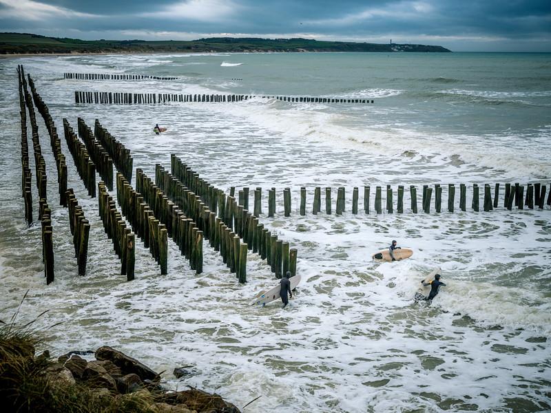 Surf à Wissant © 2019 Olivier Caenen, tous droits reserves