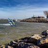 Windsurf en Canche par vent de Sud-Est © 2018 Olivier Caenen, tous droits reserves