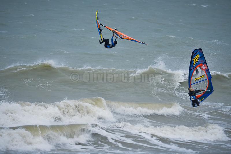 Pierre-Antoine Dambricourt Session  Windsurf matinale à Wissant 22/12/2013