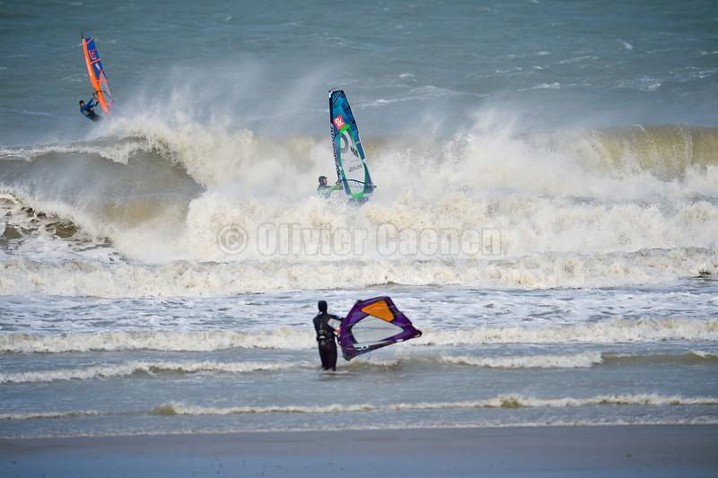 Session  Windsurf matinale à Wissant 22/12/2013