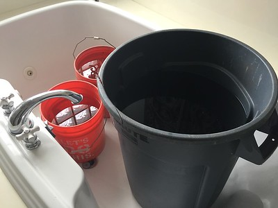 Water storage for flushing (as a precaution)