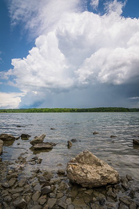 Back end of a storm cell viewed along Lake Chillisquaque in Montour County, Pennsyvlania.